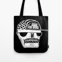 italian Tote Bags featuring Italian Skull  by Mr. JJ