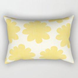 Yellow Flowers on Pale Yellow Rectangular Pillow
