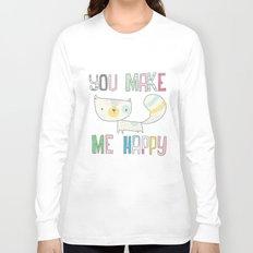 make me happy Long Sleeve T-shirt
