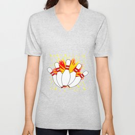 Ten Pin Comic Blast Unisex V-Neck