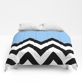 BLUE COLORBLOCK CHEVRON Comforters