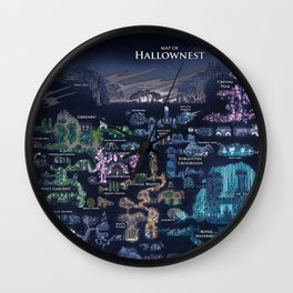 Hollow Knight Map Wall Clock