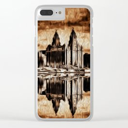 Liverpool Water front Skyline (Digital Art) Clear iPhone Case