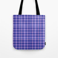 preppy Tote Bags featuring Purple Plaid Preppy by michaelrosen