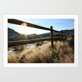 Devil's Canyon Sunrise Art Print
