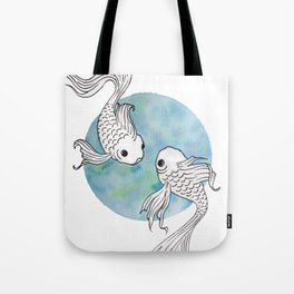 Pisces fish watercolor illustration Tote Bag