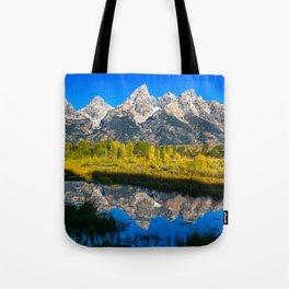 Grand Teton - Reflection at Schwabacher's Landing Tote Bag