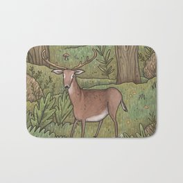 Deer in Woodland Bath Mat