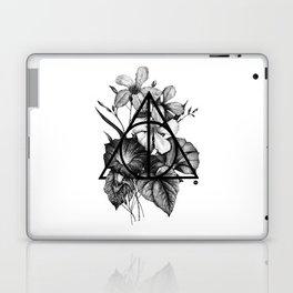 black flowers Laptop & iPad Skin