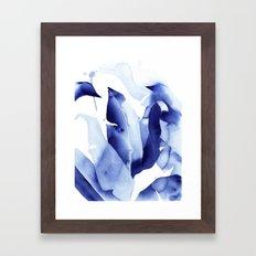 Royal Blue Palms no. 2 Framed Art Print