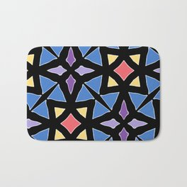 Stained Glass Color Pattern Art Bath Mat
