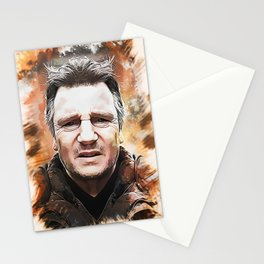Liam Neeson Caricature Stationery Cards