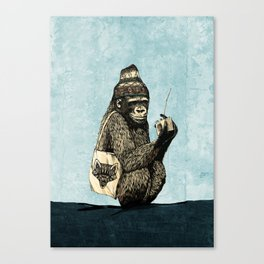Music Gorilla Canvas Print