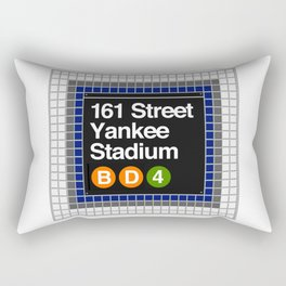subway yankee stadium sign Rectangular Pillow