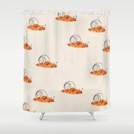 croissant snail Shower Curtain