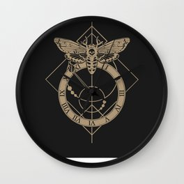 Fleeting Time (black) Wall Clock