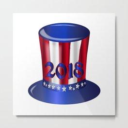Uncle Sam 2018 Flag Hat Metal Print