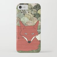 mr fox iPhone & iPod Cases featuring Mr. Fox by Elephant Trunk Studio