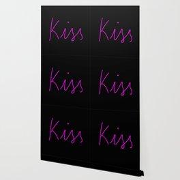 Kiss Neon Typography Wallpaper