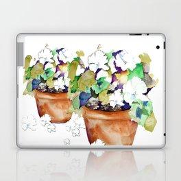 Pots of Petunias Laptop & iPad Skin