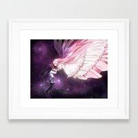 madoka Framed Art Prints featuring Madoka Magica by alexiadraws