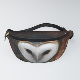 Barn owl at night Fanny Pack