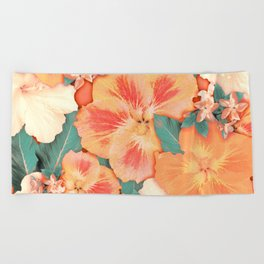 Aloha Orange Sherbet Beach Towel