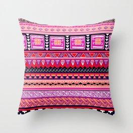 Boho Primitive Geometric Pattern Var. 4 Throw Pillow