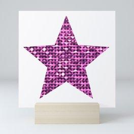 Sparkling Star,pink Mini Art Print