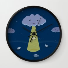 How Clouds Stay Fluffy Wall Clock