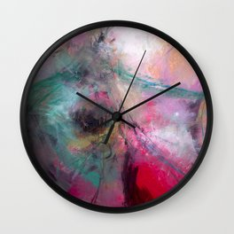 Amaranth Pink Wall Clock