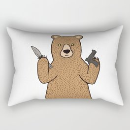 Danger bear gone mad Rectangular Pillow