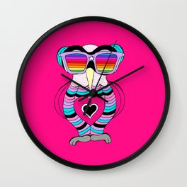 Lily rainbow glasses collection Wall Clock