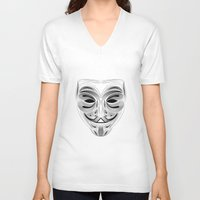 anonymous V-neck T-shirts featuring Anonymous by Tuyệt Duyệt