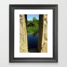 Framing a Pond Framed Art Print