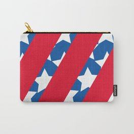 Red Stripes with Blue and Stars Carry-All Pouch
