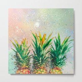Party Pineapple Metal Print