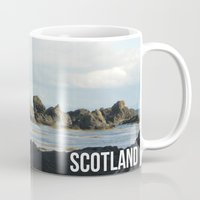 scotland Mugs featuring Scotland Coast by Alistair King