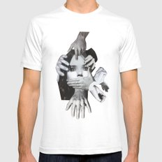 Mad SMALL White Mens Fitted Tee
