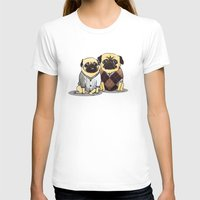 pugs T-shirts featuring Sweater Pugs by Nerf Warrior