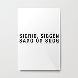 Oslolosen // Fabrikkjentene på Sagene Metal Print