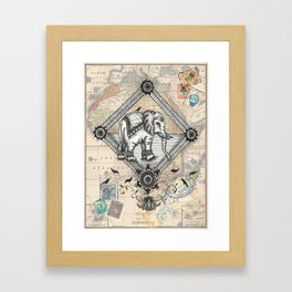 Vintage Elephant Framed Art Print
