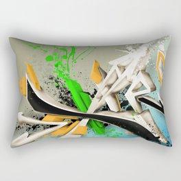 Extra grafitti 3d abstract design Rectangular Pillow