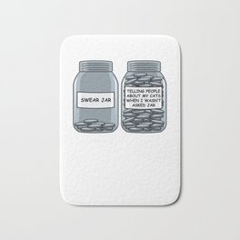 Cat Owner Enthusiast Funny Coins Bath Mat