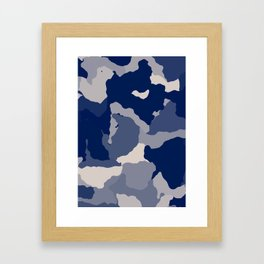 Blue Camo abstract Framed Art Print