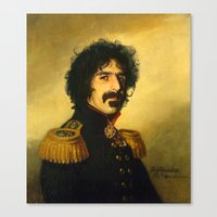 replaceface Canvas Prints featuring Frank Zappa - replaceface by replaceface