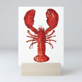 Watercolor Lobster #1 Mini Art Print