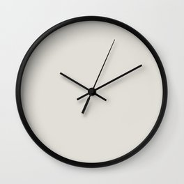 Alabaster White Solid Color Pairs with Sherwin Williams Haven 2020 Forecast Colors Eider White SW701 Wall Clock