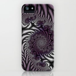 Purple and Gray iPhone Case