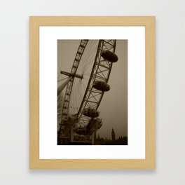 Ferris Wheel & Big Ben Framed Art Print